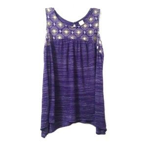 Purple tank top from faded glory plus size 1x
